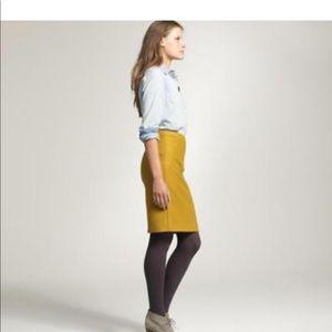 JCrew, Size 6, Golden Italian Wool Pencil Skirt